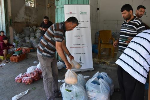 العمل الزراعي يستمر في توزيع طرود غذائية على الأسر الفقيرة في قطاع غزة