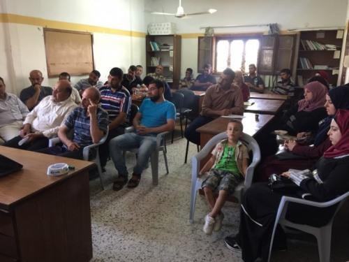 غزة- العمل الزراعي يناقش مع لجانه آليات توثيق الانتهاكات الاسرائيلية بحق المزارعين والصيادين