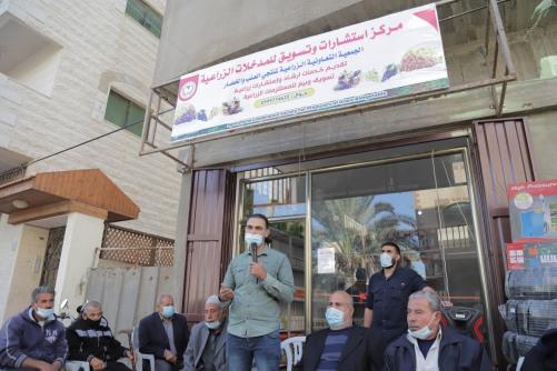 العمل الزراعي بغزة يفتتح مركز الاستشارات والتسويق لقطاع العنب
