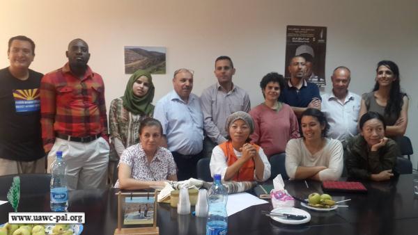 زيارة وفد من حركة الفيا كمسينا ومؤسسة الجراس رووت