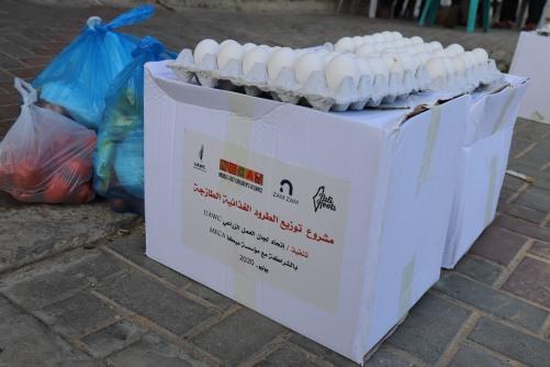 العمل الزراعي يوزع 1800 طرد غذائي على الأسر المحتاجة في قطاع غزة