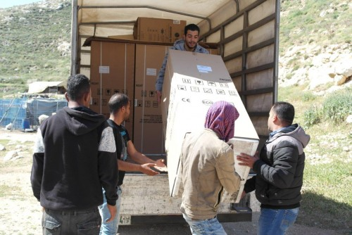 UAWC Distributes Fridges and Shaders to the Community of Far'a in Hebron