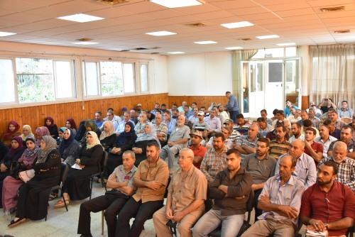 العمل الزراعي بغزة ينظم الورشة التعريفية الاولى بنشاط منح دعم الاستثمار الزراعي