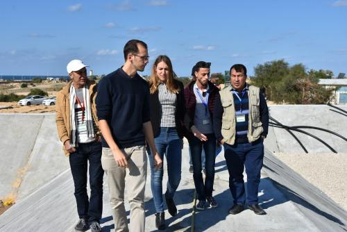 اتحاد لجان العمل الزراعي يستقبل وفد من مؤسسة التعاون الايطالي بغزة