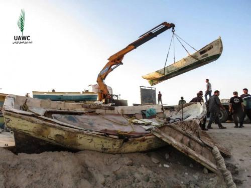 العمل الزراعي يبدأ بتأهيل 20 قارب صيد أفرج عنها مؤخرا من قبل قوات الاحتلال