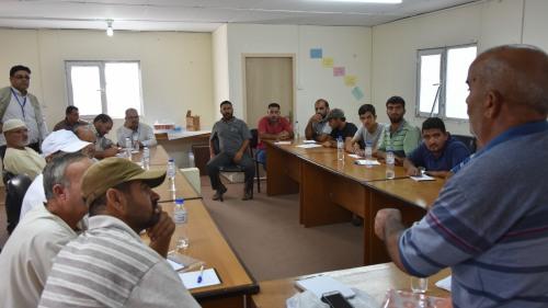 العمل الزراعي بغزة ينهي تدريب المزارعين على تحسين الانتاج والانتاجية بمنطقة خزاعة