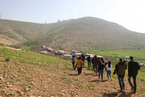 UAWC organizes a field visit to the northern Jordan Valley