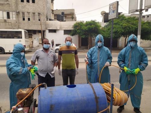 العمل الزراعي وحركة طريق الفلاحين والنقابة العامة لعمال الفلاحة ينفذون حملة تعقيم واسعة في محافظة غزة