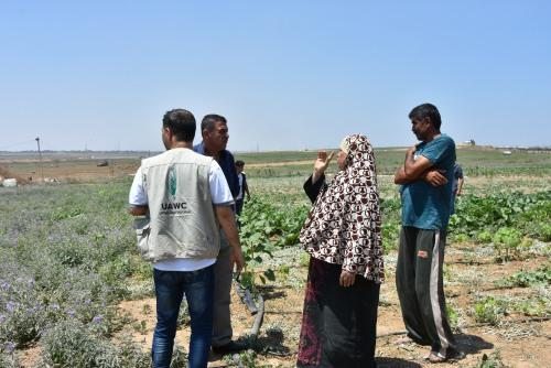 العمل الزراعي بغزة ينفذ زيارة ميدانية للمناطق الشرقية لبلدة جباليا
