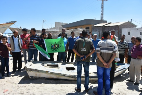 Advocacy department in UAWC implements a solidarity visit to Rafah fishermen.