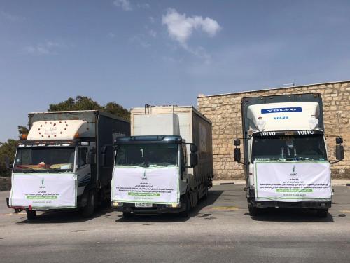 العمل الزراعي يسيّر قافلة خضراوات لمحافظة بيت لحم