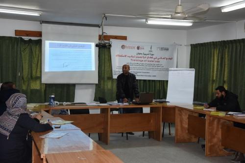 العمل الزراعي ينفذ تدريب لعدد من الجمعيات حول الوضع المائي في قطاع غزة