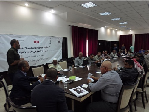 The Union of Agricultural Work Committees (UAWC) hosts a legal workshop for farmers in the Jordan Valley