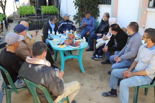 مجلس إدارة العمل الزراعي ينفذ زيارات ميدانية شملت مقراته وفروعه في محافظتي غزة والشمال