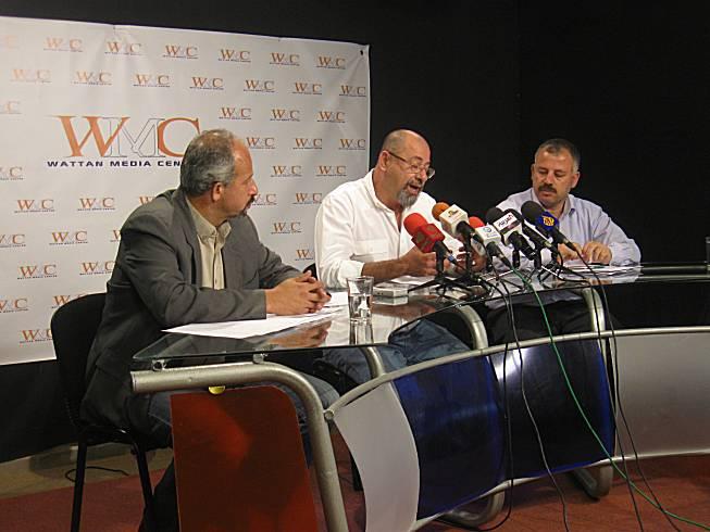 اعلن لجان العمل الزراعي والحملة الشعبية لمقاومة الجدار و الاغاثة الزراعية في مؤتمر صحفي عقد في مدينة رام الله