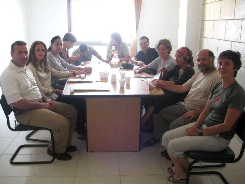 استضافة وفد من المتطوعين الفرنسيين في منطقة جنين
